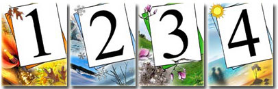 4 Seasons Table Numbers
